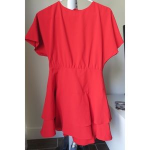 Alice & Olivia red mini dress